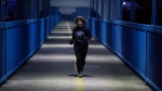 Alberta Premier Rachel Notley goes for a morning run wearing a Toronto Argonauts jersey after losing a bet on the Grey Cup to Ontario Premier Kathleen Wynne in Edmonton Alta, on Friday December 1, 2017. Premier Rachel Notley has made good on her Grey Cup bet with Ontario counterpart Kathleen Wynne. Notley went for an early morning run in Edmonton Friday wearing the famous Double Blue of the new CFL champions. THE CANADIAN PRESS/Jason Franson