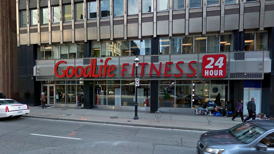 A Goodlife Fitness location in Toronto, Canada is pictured in this image taken from Google Street View. (Google/Google Street View)