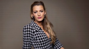 "In this Oct. 16, 2017 file photo, Blake Lively poses for a portrait in New York to promote her latest film, ""All I See Is You,"" where she plays a blind woman who regains her sight. Production has been halted on the action-thriller film ""The Rhythm Section"" after actress Lively was injured on set. Producers said in a statement Monday, Dec. 4, that Lively hurt her hand while performing an action sequence. Filming was temporarily suspended. Producers said it would resume as soon as possible. (Photo by Taylor Jewell/Invision/AP, File)"