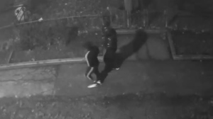 Two suspects in a shooting in L'Amoureaux on Dec. 3 are shown in a surveillance camera image. (TPS)