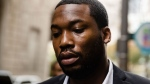 In this Nov. 6, 2017 photo, rapper Meek Mill arrives at the criminal justice center in Philadelphia. (AP Photo/Matt Rourke)