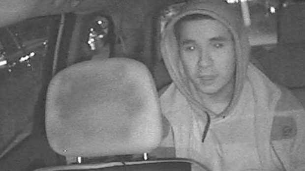 A suspect wanted in connection with a fatal shooting in Hamilton is seen in this undated surveillance image. (Hamilton police)