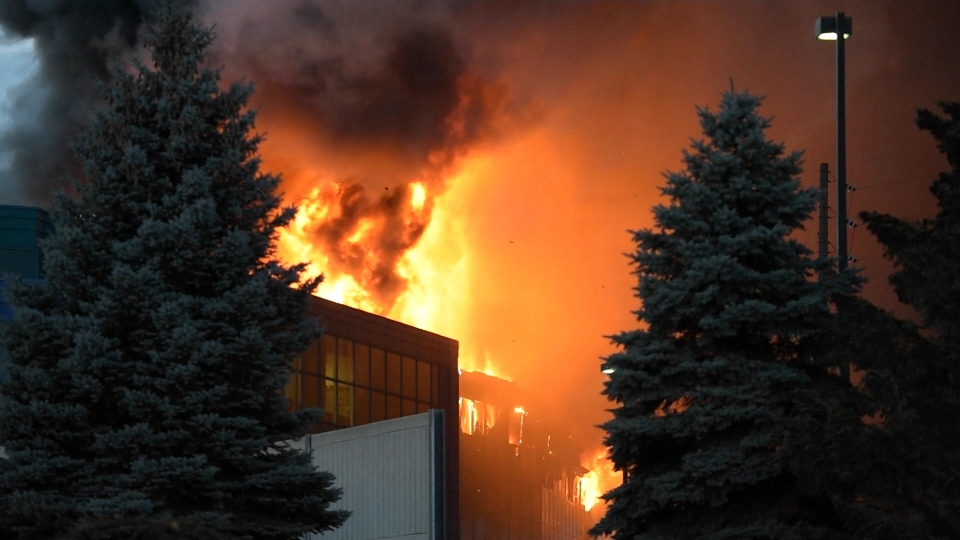 The Office of the Fire Marshal is investigating a massive fire at a food processing plant in Burlington.