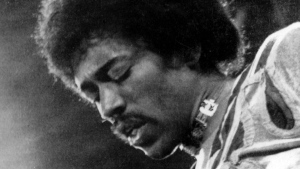 In this 1970 file photo, musician Jimi Hendrix performs on the Isle of Wight in England. (AP Photo/File)