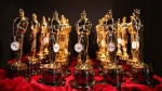 This March 2, 2014 file photo shows Oscar statues lined up backstage during the Oscars in Los Angeles. THE CANADIAN PRESS/AP-Photo by Matt Sayles/Invision/AP