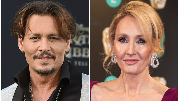 Johnny Depp and JK Rowling