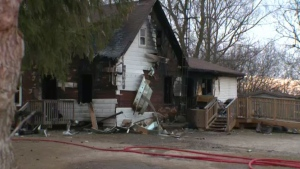 A three-year-old boy died in hospital after being rescued from a burning house on Fourth Line in Six Nations on Friday, Dec. 8, 2017.