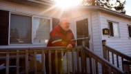 Resident Tom Todd stands outside his home in Twin Pines Mobile Home Park in Mississauga, Ontario, on Friday December 8 , 2017. Residents are fighting a move by The Peel Housing Corporation to impose a re-development plan for the community. THE CANADIAN PRESS/Chris Young