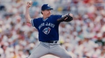 In this file photo, Toronto Blue Jays starting pitcher Jack Morris gets set to release during the first Grapefruit League exhibition game against the Philadelphia Phillies in Clearwater, Fla., March 6, 1992. THE CANADIAN PRESS/Hans Deryk