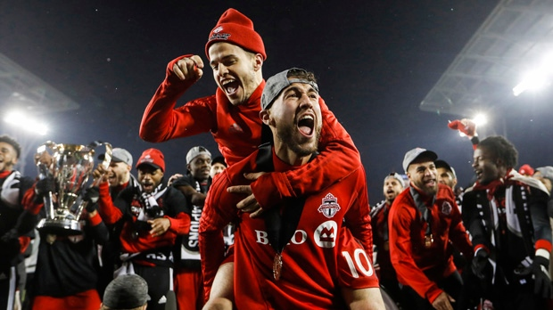Toronto FC celebrates MLS Cup win with downtown parade