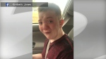 Keaton Jones is seen in this image from a Facebook video.