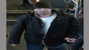 A suspect wanted in connection with a hate incident on a Vaughan bus is pictured in this security image released by York Regional Police Monday December 11, 2017. (Handout /York Regional Police)