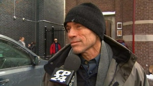 Michael Wells, the father of Alloura Wells, speaks with CP24 at a memorial service for his daughter on Tuesday afternoon.