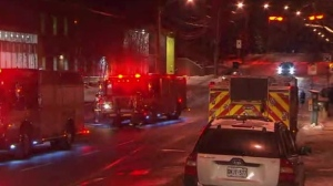 Toronto Fire crews evacuated a building on Merton Street this morning after carbon monoxide was detected in the condo.