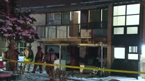 No injuries were reported after a car and apartment unit were set on fire in Rexdale on Wednesday morning.