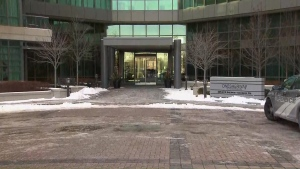 A four-month-old baby stabbed at a condo building in Etobicoke has been taken to Sick Kids Hospital.