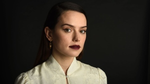 "In this Dec. 3, 2017 photo, actress Daisy Ridley poses for a portrait to promote her film, ""Star Wars: The Last Jedi"" in Los Angeles. (Photo by Jordan Strauss/Invision/AP)"