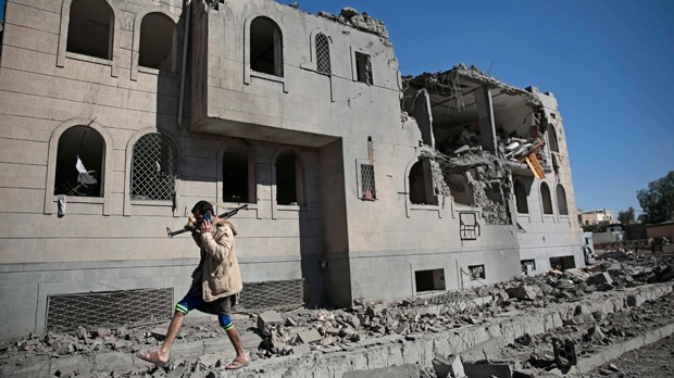 Suspected Saudi-led coalition airstrikes kill 15 in Yemen