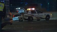 rear-ended, police, cruiser