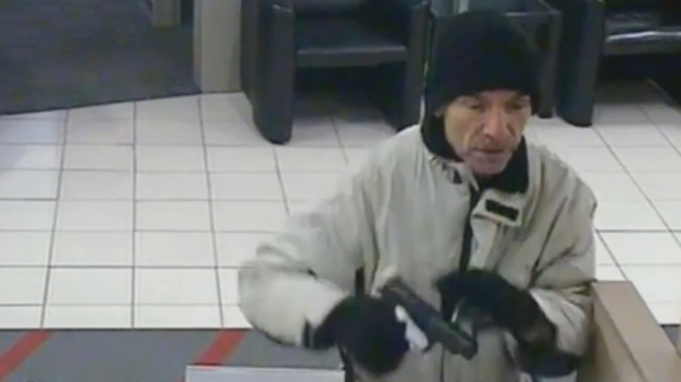Toronto police release video of suspect in east-end armed bank robbery