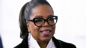 In this Oct. 21, 2017 file photo, Oprah Winfrey arrives for the David Foster Foundation 30th Anniversary Miracle Gala and Concert, in Vancouver, British Columbia. (Darryl Dyck/The Canadian Press via AP, File)