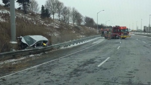 pregnant, child injured, highway 403, crash