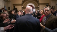 House Ways and Means Committee Chairman Kevin Brady, R-Texas, talks to reporters at the Capitol after Republicans signed the conference committee report to advance the GOP tax bill, in Washington, Friday, Dec. 15, 2017. (AP Photo/J. Scott Applewhite)