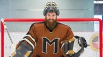 Mark Manning, creator of the app GoalieUp, poses for a portrait at a local hockey rink in Montreal, Sunday, December 17, 2017. THE CANADIAN PRESS/Graham Hughes