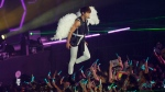 FILE - In this file photo dated Saturday, Oct. 27, 2012, member of South Korean band SHINee, Jonghyun performs during their concert in Hong Kong. Kim Jong-hyun, better known by the stage name Jonghyun, was found unconscious at a residence hotel in Seoul and was pronounced dead later at a nearby hospital, Seoul police said Monday Dec. 18, 2017. (AP Photo/Kin Cheung, FILE)