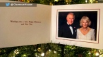 royal family christmas card, charles camilla