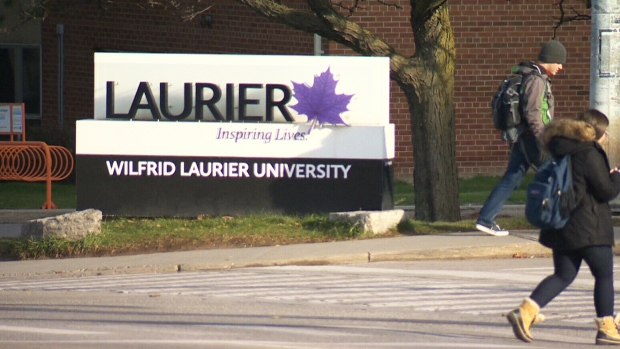 The Wilfrid Laurier University sign