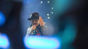 Gord Downie performs at WE Day in Toronto on Wednesday, October 19, 2016. Staring into the face of his own mortality, Gord Downie chose to celebrate life, love and connection. THE CANADIAN PRESS/Chris Young