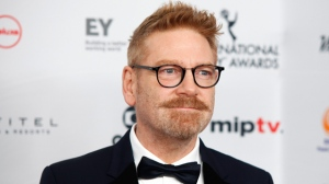 "In this Nov. 20, 2017, file photo, Kenneth Branagh attends the 45th International Emmy Awards at the New York Hilton in New York. Branagh is teasing the return of ""old friends"" in his planned sequel to ""Murder on the Orient Express."" Branagh is expected to return as both director and fancifully mustachioed lead character Detective Hercule Poirot in ""Death on the Nile"" (Photo by Andy Kropa/Invision/AP, File)"
