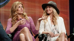 "In this July 27, 2012, file photo, Connie Britton, left, and Hayden Panettiere attend the ""Nashville"" panel at the Disney ABC TCA Day 2 at the Beverly Hilton Hotel in Beverly Hills, Calif. (Photo by Todd Williamson/Invision/AP, File)"