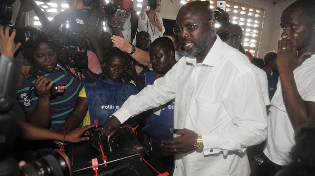 George Weah set to win Liberia presidential runoff