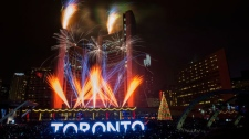 toronto, nathan phillips square, new years eve