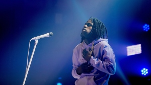 Daniel Caesar performs at Toronto's Danforth Music Hall on Sunday, December 17, 2017. THE CANADIAN PRESS/Chris Young