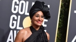 Tracee Ellis Ross arrives at the 75th annual Golden Globe Awards at the Beverly Hilton Hotel on Sunday, Jan. 7, 2018, in Beverly Hills, Calif. (Photo by Jordan Strauss/Invision/AP)