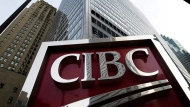 A photograph of the CIBC sign in Toronto's financial district in downtown Toronto on Thursday, Feb. 26, 2009. (THE CANADIAN PRESS/Nathan Denette)