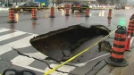 Sinkhole on Yonge Street near Highway 401