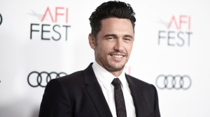 "In this Nov. 12, 2017 file photo, James Franco attends the centerpiece gala presentation of ""The Disaster Artist,"" in Los Angeles. Several women have made further claims of sexual inappropriateness against James Franco in a Los Angeles Times article. In the report published Thursday, Jan. 11, 2018, two former student actresses described negative on-set experiences with the actor-filmmaker while being directed by him. Sarah Tither-Kaplan said in a nude orgy scene three years ago, he removed plastic guards covering the actresses' groins while simulating sex. (Photo by Richard Shotwell/Invision/AP, File)"