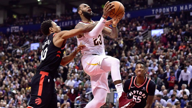 Toronto Raptors give Cavaliers a taste of their own medicine