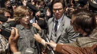 """This image released by Sony Pictures shows Michelle Williams, left, and Mark Wahlberg in TriStar Pictures' """"All The Money in the World."""" After an outcry over a significant disparity in pay with Williams, Wahlberg has agreed to donate the $1.5 million he earned for reshoots on the movie to the anti-sexual misconduct initiative Time's Up, in Williams' name, announced Saturday, Jan. 13, 2018. (Fabio Lovino/Sony-TriStar Pictures via AP)"""