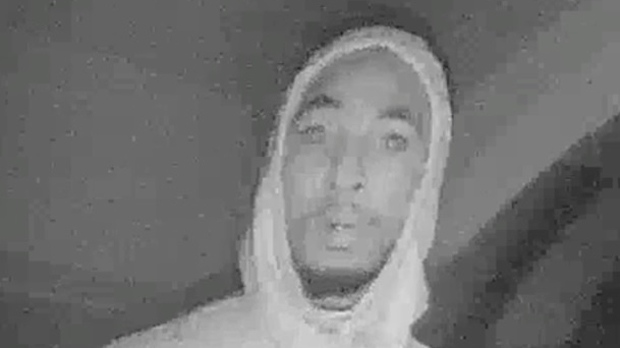 A suspect in a Mississauga break and enter investigation is shown in a security camera image. (PRP)
