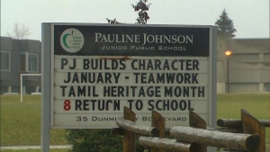 Pauline Johnson Junior Public School is seen in this photo.