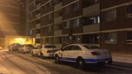 Police are investigating after a shot was fired at the door of an apartment unit in Scarborough. (Mike Nguyen/ CP24)