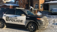 "Police are on the scene of a ""weapons-related"" call at a home in Oakville this morning."