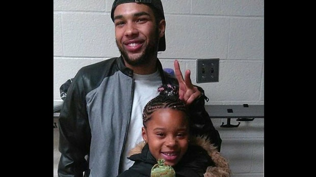 Terrell Carr and his niece are seen in this undated photo.