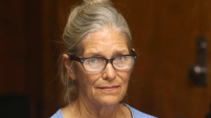 In this Sept. 6, 2017, file photo, Leslie Van Houten attends her parole hearing at the California Institution for Women in Corona, Calif. California Gov. Jerry Brown has again denied parole for Van Houten, the youngest follower of murderous cult leader Charles Manson. Brown said in his decision announced Friday, Jan. 19, 2018, that despite Van Houten saying at her parole hearing that she accepts full responsibility for her crimes, she still lays too much of the blame on Manson, who died two months ago. (Stan Lim/Los Angeles Daily News via AP, Pool, File)