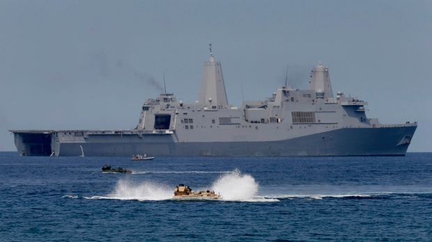 China protests U.S. warship sailing near disputed Scarborough Shoal